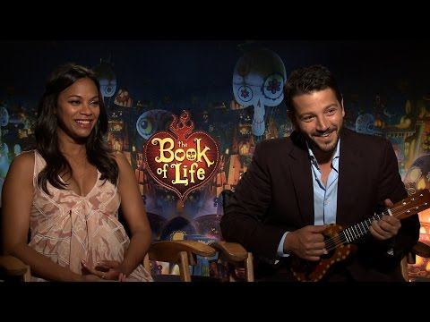 BOOK OF LIFE Interviews: Zoe Saldana, Diego Luna, Ice Cube, Ron Perlman, Kate Del Castillo