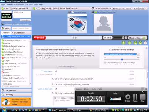 Skype - Stereo Mix