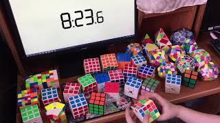 Rubik's Cube 45th Anniversary!! 37 cubes solved in a row