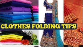 Clothes folding tips | Indian clothes organisation | How to fold and store Indian & western clothes