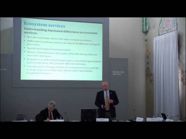Cities and Ecosystem Services, Functionalities, Susceptibilities and Priorities, Robert McInnes Prt3