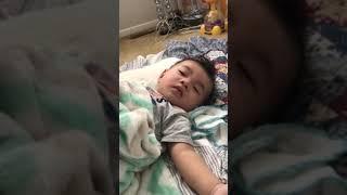 Ngủ nướng ( bé siêu dễ thương)