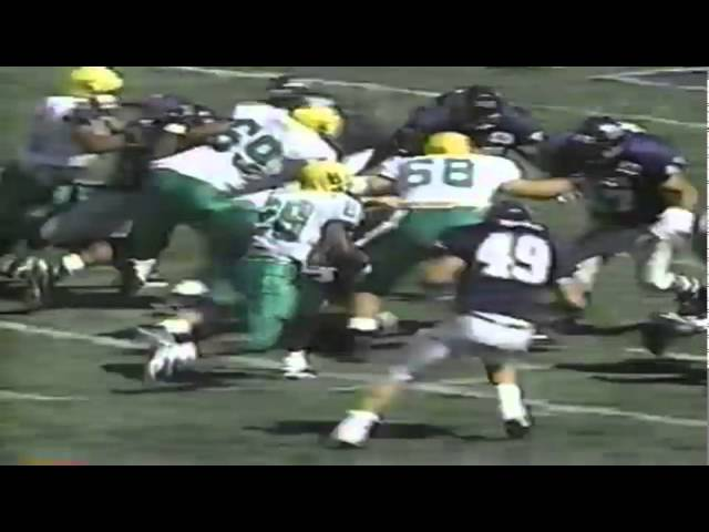 Oregon RB Saladin McCullough 11 yard touchdown run vs. Nevada 9-13-1997