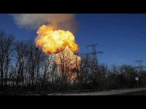 Ukraine explosion: Mortar fire collides with gas pipeline injuring journalists