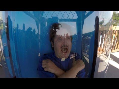 Ihu's Breakaway Falls Drop Slide POV at Aquatica by SeaWorld Orlando - Multi Drop Tower!