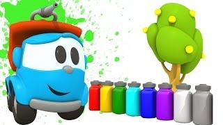 Грузовичок Лева: учим цвета. Развивающий мультфильм.