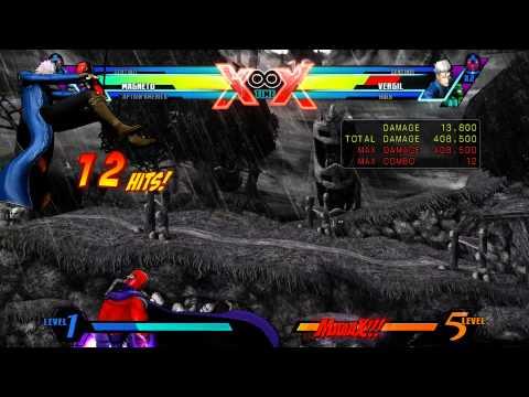 UMVC3: Captain America & Magneto Rawtag Combo 4