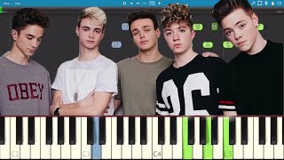 Why Don't We - These Girls - Piano Tutorial - How To Play These Girls