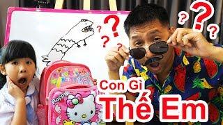 Trò Chơi Lớp Học Bé Bún Tập 2 – Bố Bé Bún Tập Làm Thầy Giáo ♥CreativeKids♥
