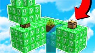 OVERPOWERED vs OVERPOWERED! - Emerald Lucky Block Sky Warriors (Minecraft Mods)