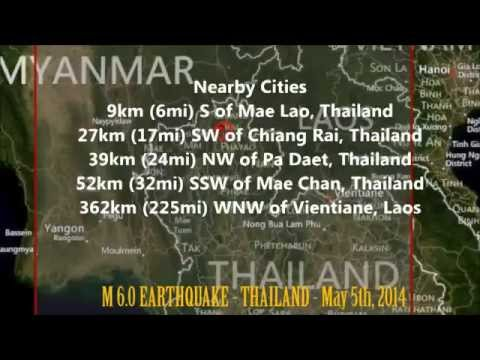 M 6.2 EARTHQUAKE - THAILAND - May 5, 2014