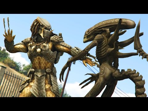 GTA 5 Mods - ALIEN VS PREDATOR MOD! (GTA 5 PC Mods)