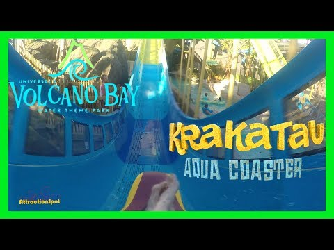 Krakatau Aqua Coaster Full Ride Front Seat 60 FPS (HD POV) Universals Volcano Bay Water Theme Park