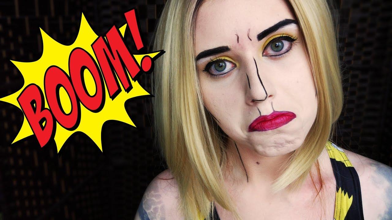 Comic book girl makeup
