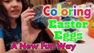 Coloring Easter Eggs Fun New Rice Shaker and Color Dip | Cammi TV