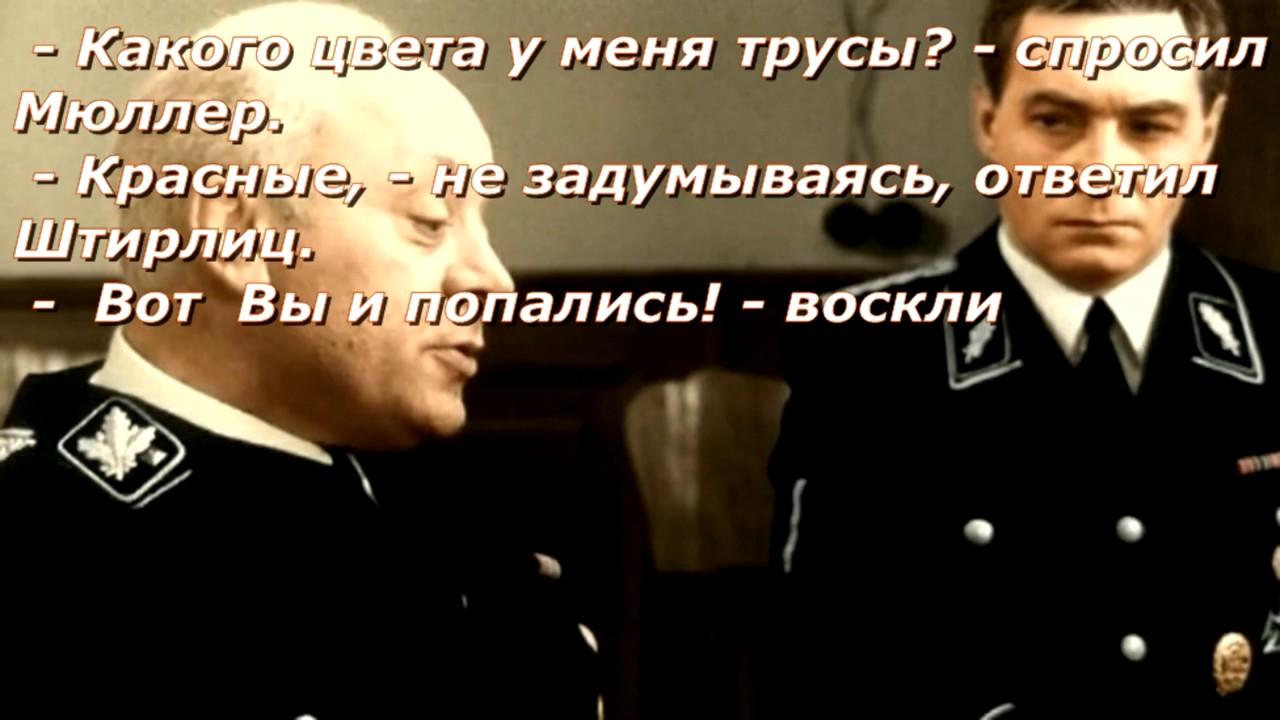 Анекдот: Мюллер и Штирлиц сидят в кафе. Штирлицу несут…