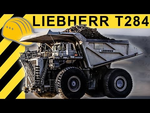 Biggest Dump Truck of the World  Liebherr T 284 Mining Truck Action & Inside  MINExpo 2012