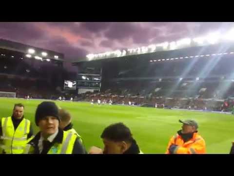 Man United fans away at Villa  1-1 Falcao 20/12/14