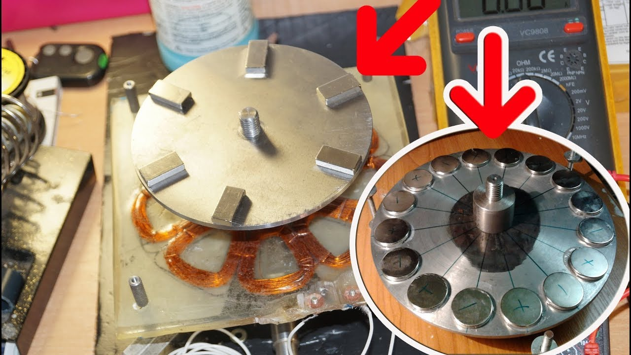 Электродвигатель с неодимовыми магнитами своими руками 44