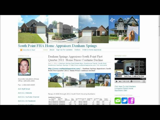Denham Springs Housing Trends For South Point Subdivision First Quarter 2011 Update