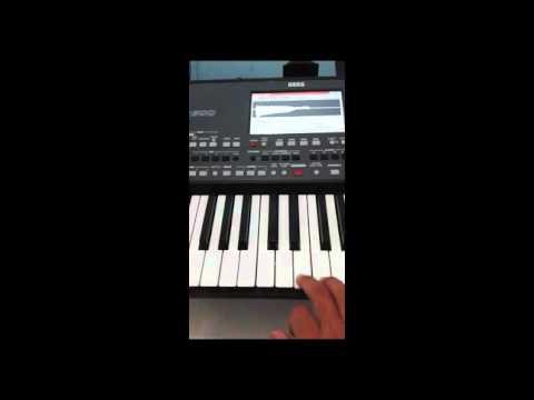Korg Pa600 editando sampler V.2 (Leia a descrição) (Video 1)