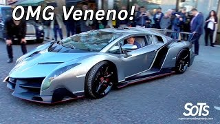 £6Million Lamborghini Veneno CHAOS in London!
