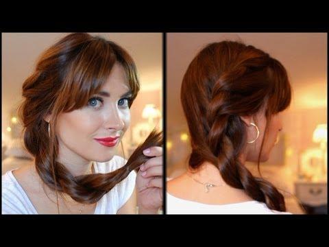 Peinado fácil para diario: trenza retorcida paso a paso. Easy everyday hairstyl