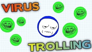 AGAR.IO HOW TO HIT VIRUS - TROLLING PEOPLE WITH SMALL CELLS