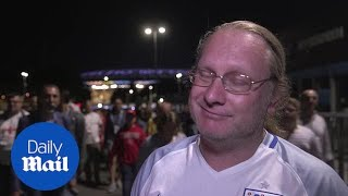 England fans in Moscow react to World Cup exit