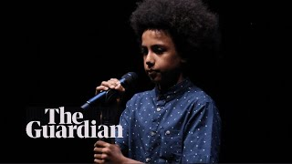 Solli Raphael, 12, becomes youngest winner of Australian Poetry Slam