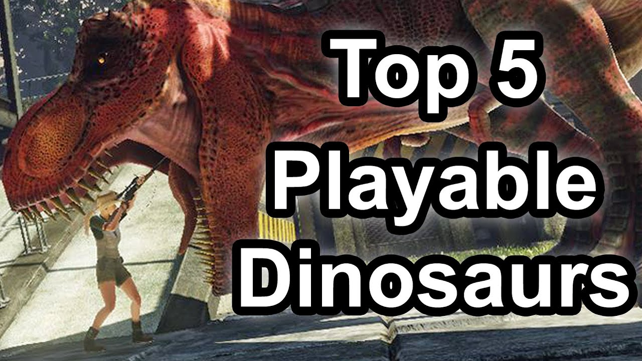 top 5 - playable dinosaurs in gaming