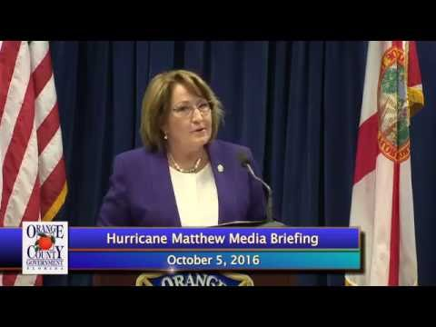Orange County Government | Hurricane Matthew Media Briefing - October 5, 2016
