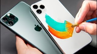 Can I PAINT the NEW IPHONE 11's? (TIME-LAPSE)