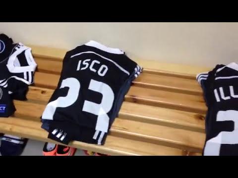 La camiseta de Champions ya está preparada en el vestuario del equipo