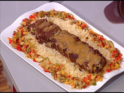 طريقة عمل رول اللحمه المحشي على طريقة الشيف #غفران_كيالي من برنامج #هيك_نطبخ #فوود