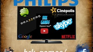 Testando APP Smart TV FULL HD Philips 5100 serie - 40PFG5109/78 - Skype