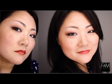 MONOLID EYES MAKEUP TUTORIAL - FALL SMOKEY LOOK TANGERINE TANGO