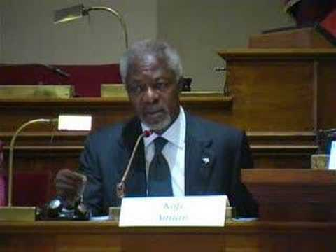 Kofi Annan Speaks at Rome Conference on MDGs