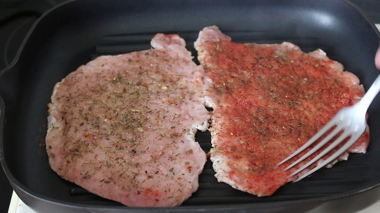 как пожарить отбивные из свинины на сковороде чтобы было сочное мясо