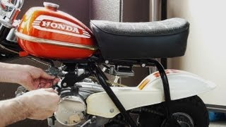 Honda QA50 K2 Minibike Engine test starting and idling adjustment .   Vintage motorbike  20130602
