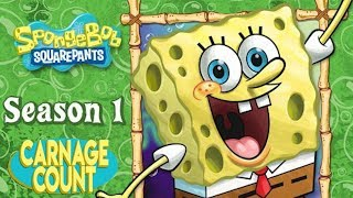 "Spongebob Squarepants Season One (1999) Carnage Count with ""My Leg"" Bonus Round!"