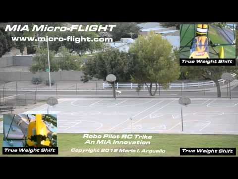 Wicked! Product True Weight Shift at its finest! RC Microlight - MIA Mini Robo Trike Vid 3