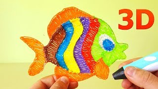 Disney toys! How to Make Nemo with 3d Pen and Paper