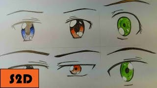 How To Draw Manga Eyes (6 Different Ways) [Part 2: Male]