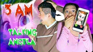 NUNCA JUEGUES TALKING ANGELA A LAS 3AM!! QUÉ MIEDO!! | Palomitas Flow