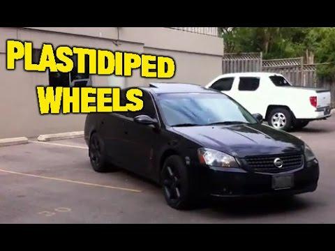 Nissan Altima Sitting On Plasti Dip 350z 18 Quot Rims Youtube