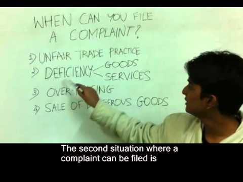 When can you file a consumer complaint? Part 2/7