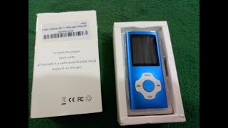 Download Lagu MP3 Player MP4 Player, Hotechs MP3 Music Player with 16GB Memory SD card Slim Classic Digital LCD 1 Gratis STAFABAND
