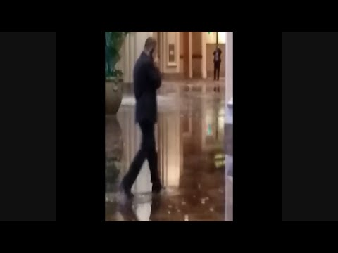 Raw: Water Main Break Floods Vegas Mandalay Bay