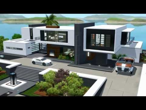 Modern sims house for Modern house 360 view